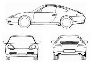 3D-Marke Porsche Boxter