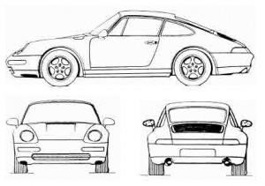 3D-Marke Porsche 911